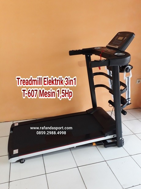 Treadmill lektrik 3in1 T-607 Mesin 1,5Hp
