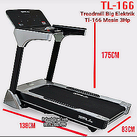 treadmill elektrik tl-166 mesin 3hp